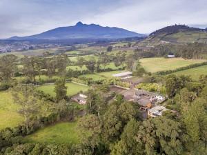 Hacienda La Alegria, maison de famille de Gabriel Espinosa. Près d'Aloag. Equateur.